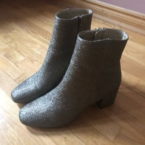 Gold urban outfitters booties size 9